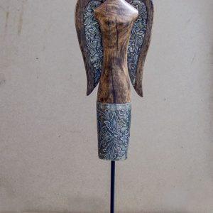Tượng gỗ phụ nữ (TG 03)