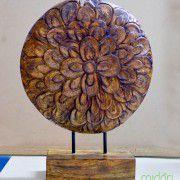 Tượng gỗ bông hoa (TG 07)
